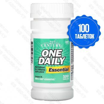 One Daily, комплекс необходимых элементов, 100 таблеток